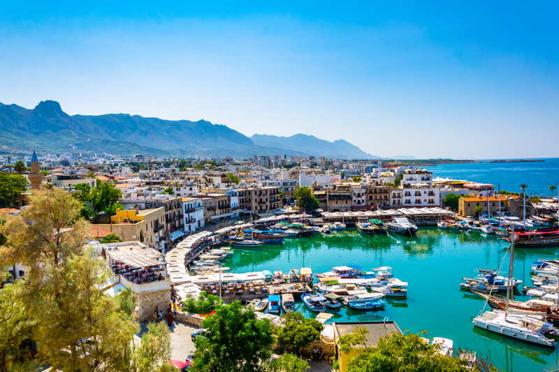 kyrenia harbour in northern cyprus