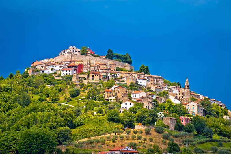 mountain town istra croatia