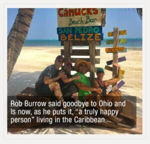 Rob Burrow living in Belize