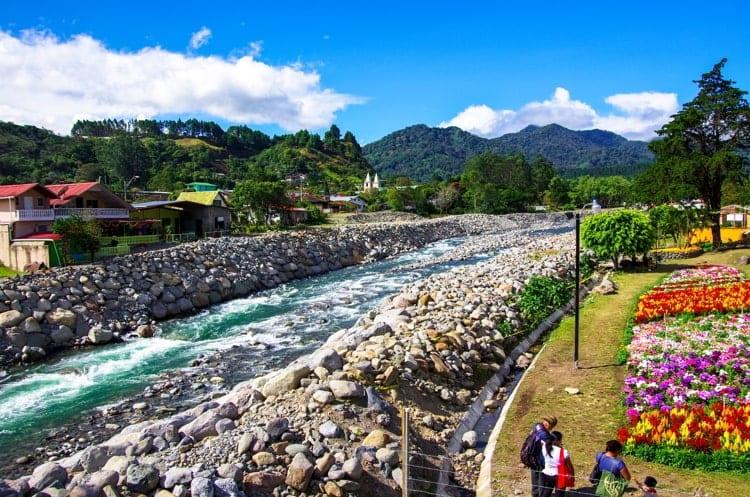 Rio Caldera in Boquete Chiriqui next to the Coffee fair grounds.