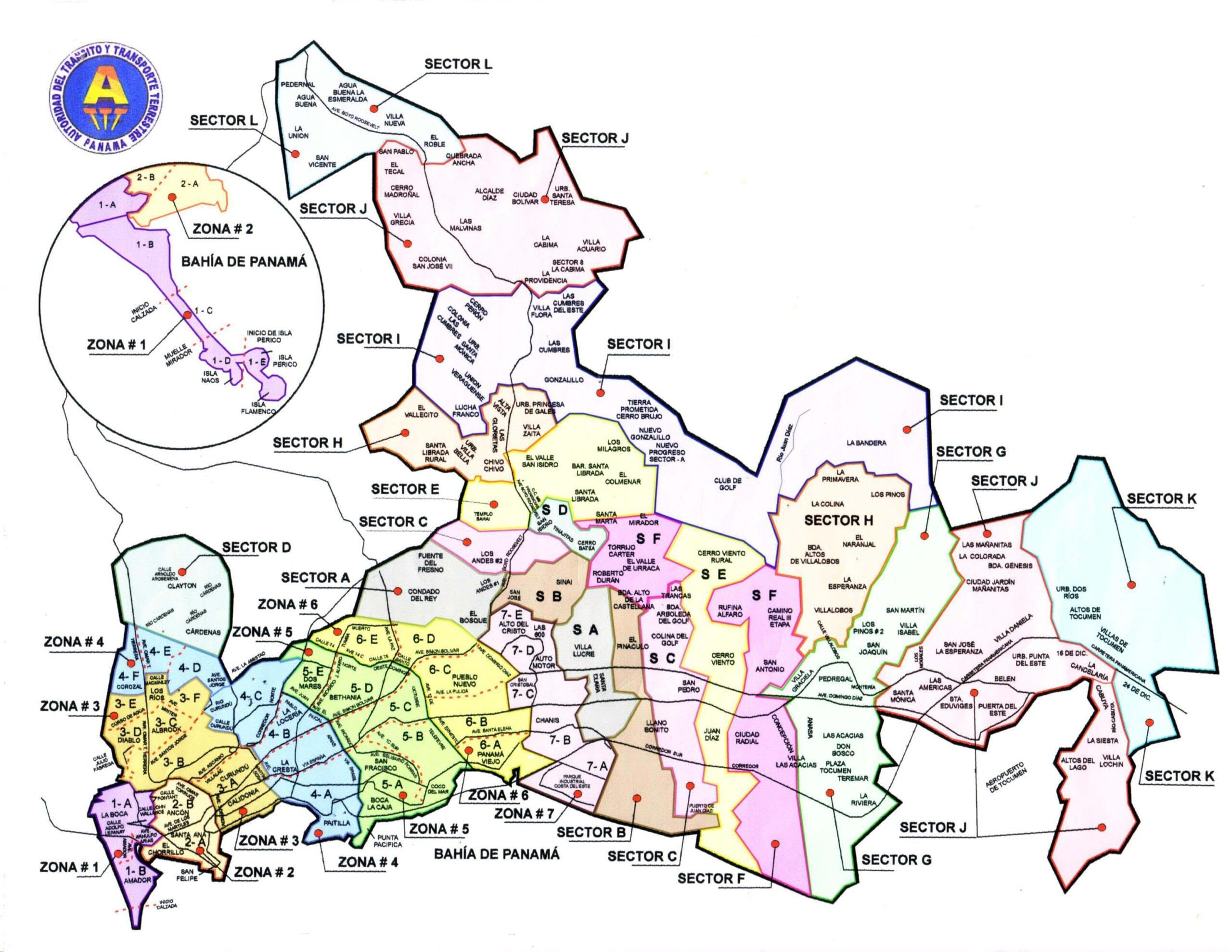 zone of taxi fares panama city panama