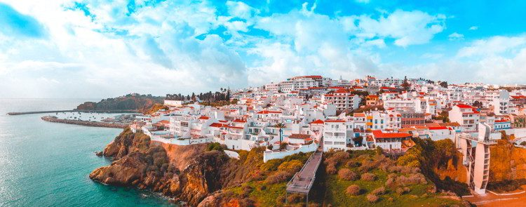Giant panorama about Albufeira in Portugal