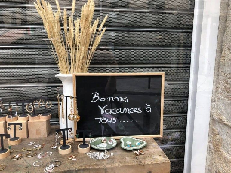 A sign at a Paris store. The owner is on vacation