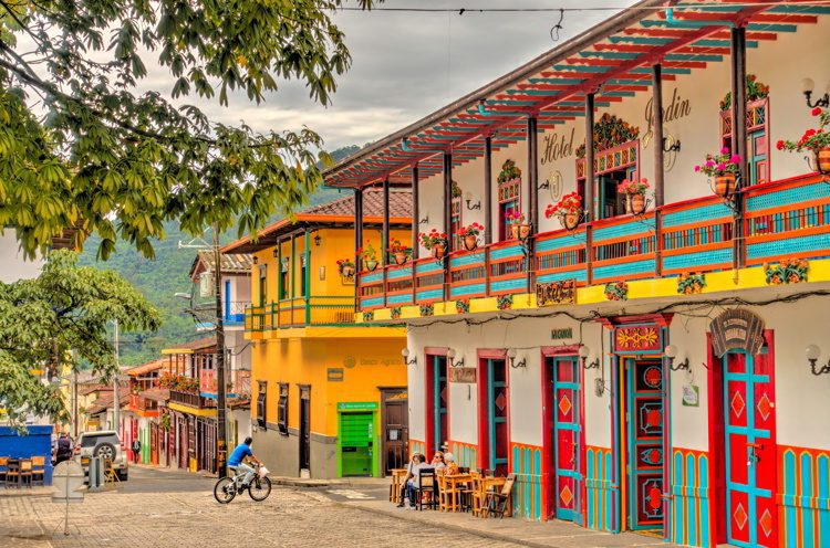 Picturesque town in Antioquia, Colombia