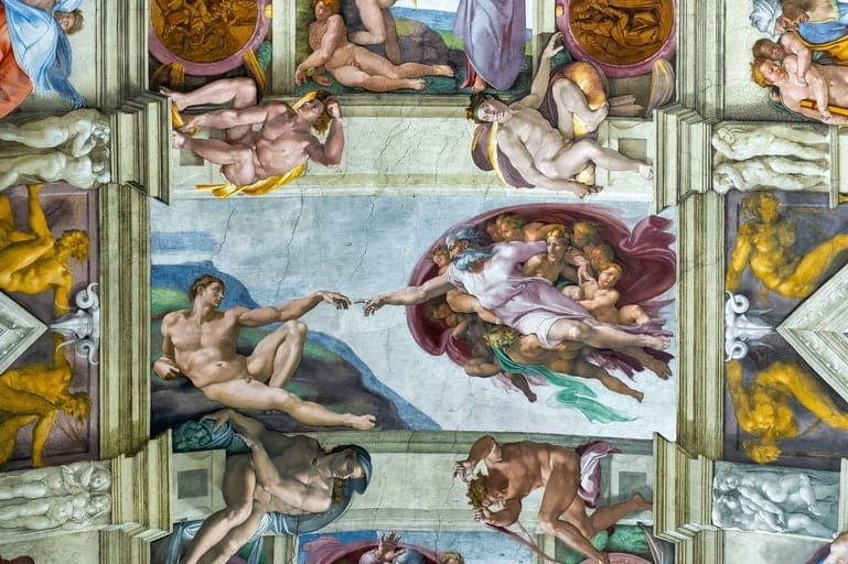 The Creation of Adam, Sistine Chapel by Michelangelo