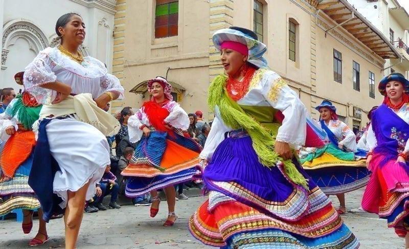 Christmas parade Pase Del Niño Viajero, Cuenca, Ecuador