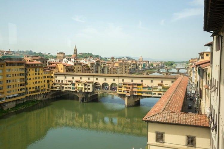 The Ponte Vecchio and Vasari Corridor, Florence