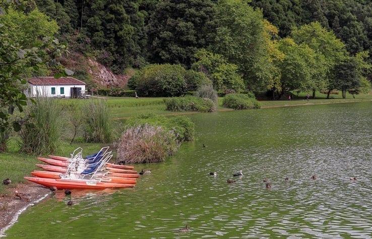 Lagoa das Furnas, Azores, Portugal, canoeing