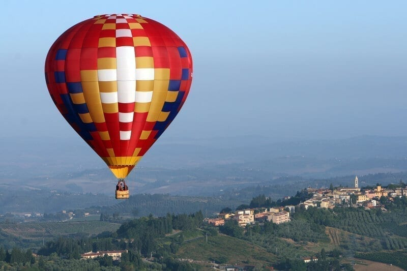 Balloon over Tuscany
