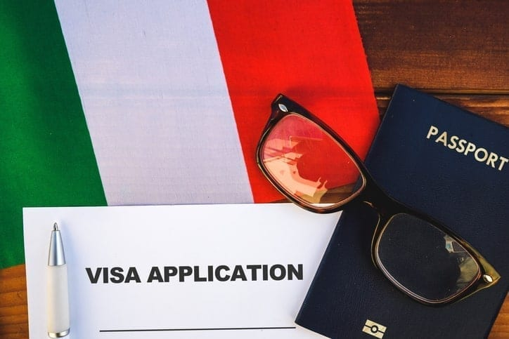 work visa application Italy