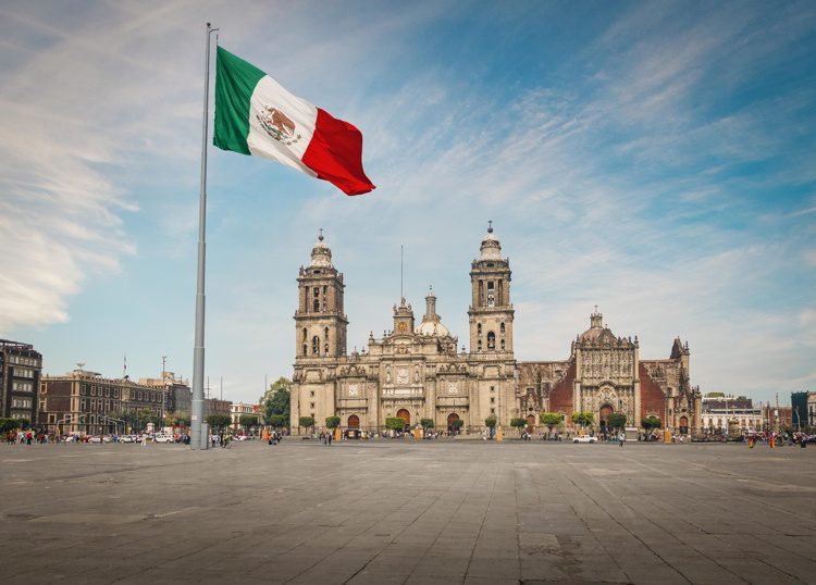 Zocalo Square and Mexico City Cathedral, Mexico