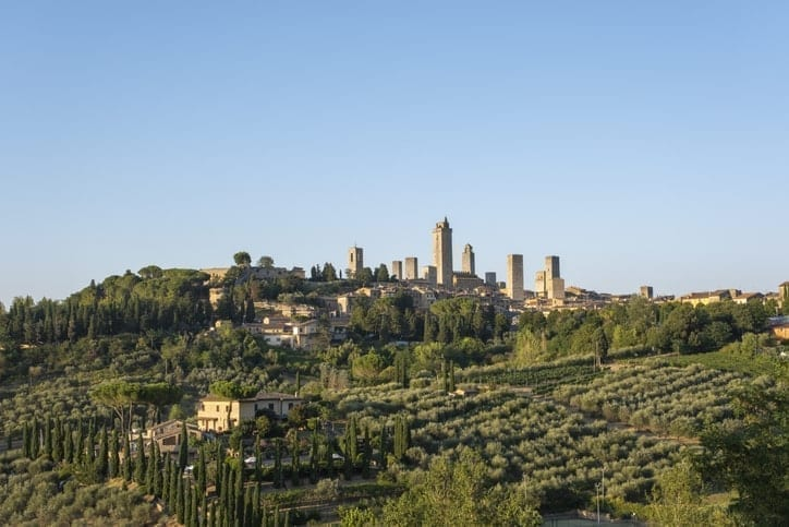 cheapest country to live in Italy, San Gimignano, Siena