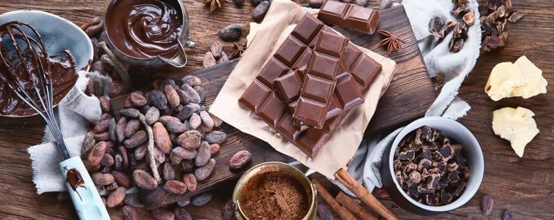 Making chocolate.