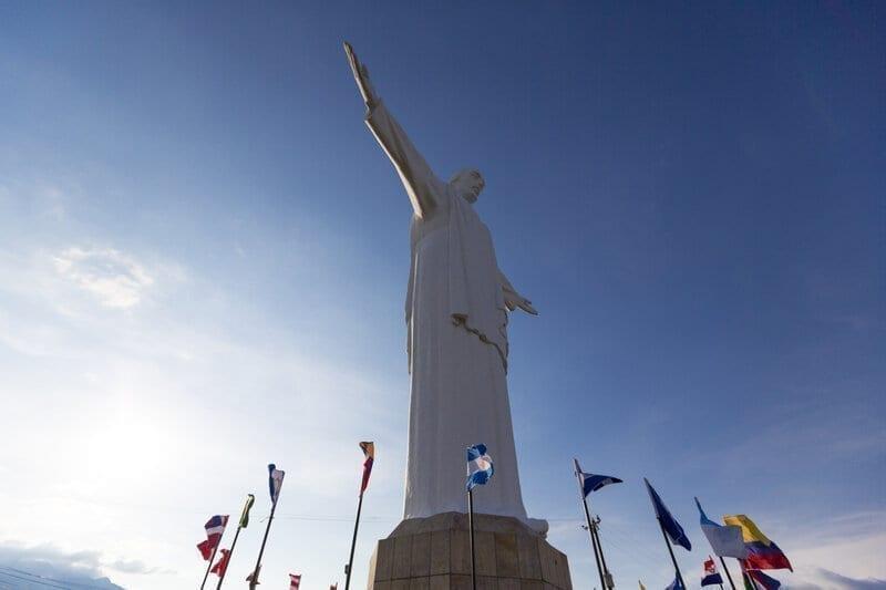 Cristo del Rey statue of Cali, Colombia