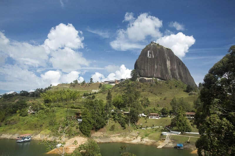 The Rock of Guatapé, or Piedra del Peñol, is a 220 meter high monolith.