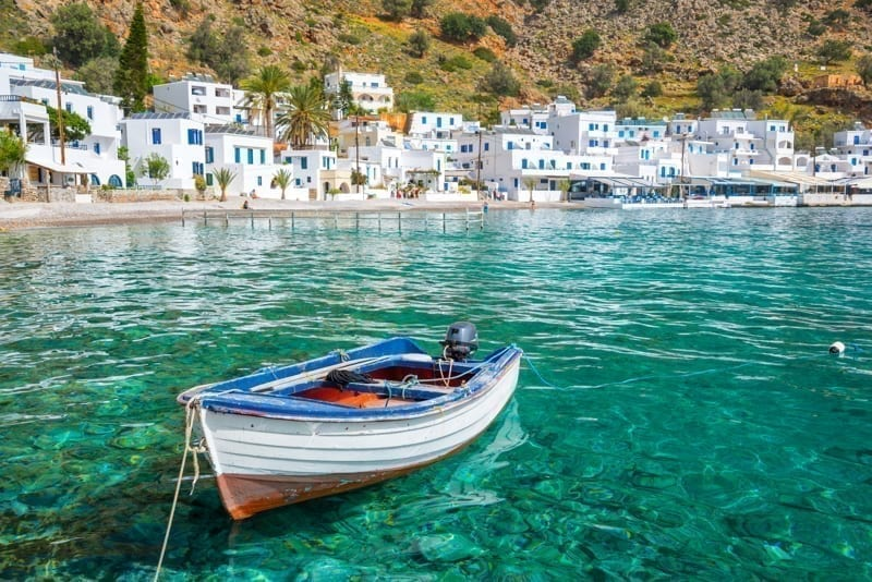 Loutro in Crete, Greece