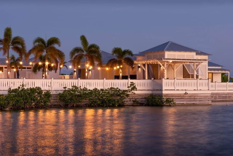 San Pedro, Ambergris Caye, Belize. A tropical view of the resort.