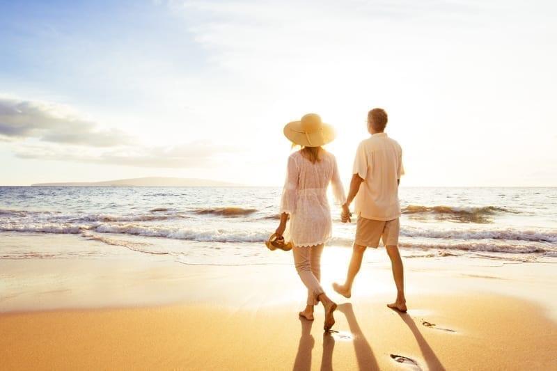 Retire overseas. Retired couple living overseas.
