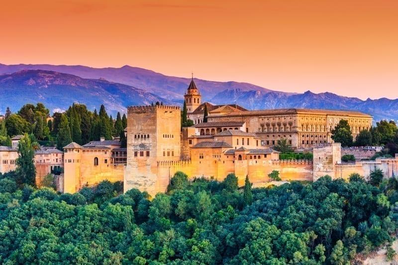 Alhambra of Granada, Spain.