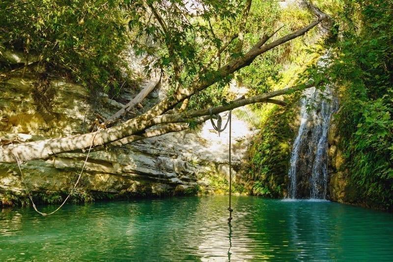 Adonis Baths Waterfalls in Paphos, Cyprus.