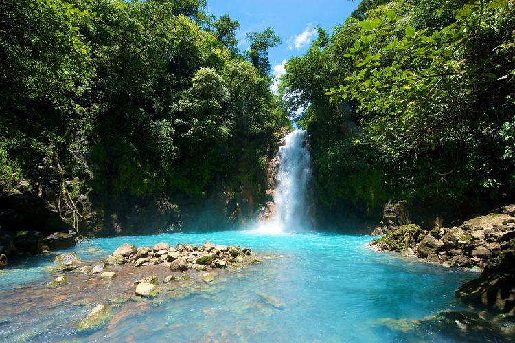 A waterfall in Costa Rica