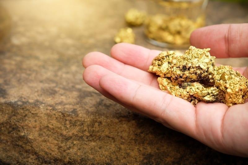 Gold, a precious metal.