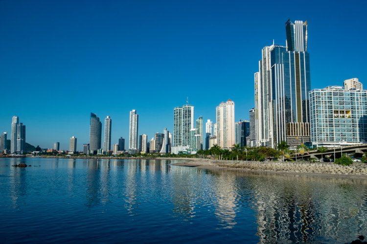 Panama Canal and Panama City in Panama.