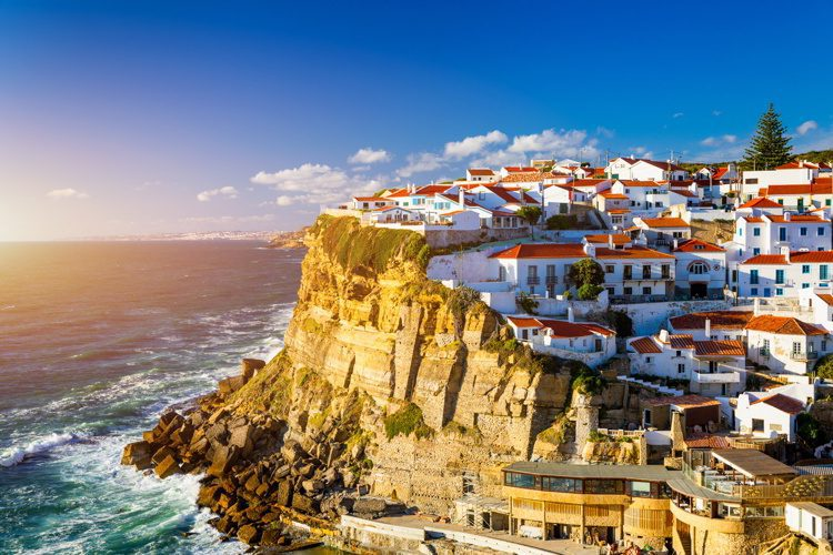 A seaside town in the municipality of Sintra, Portugal.
