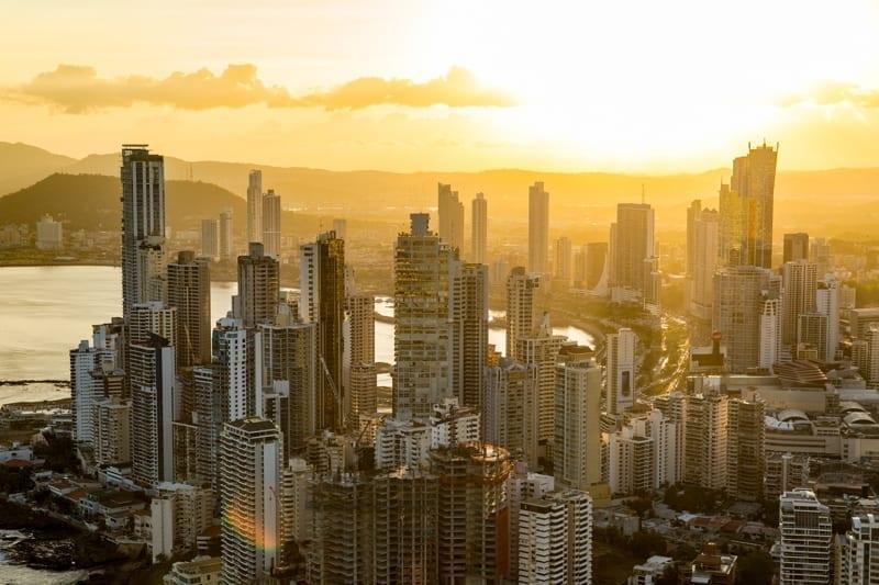 Panama City at Sunset.