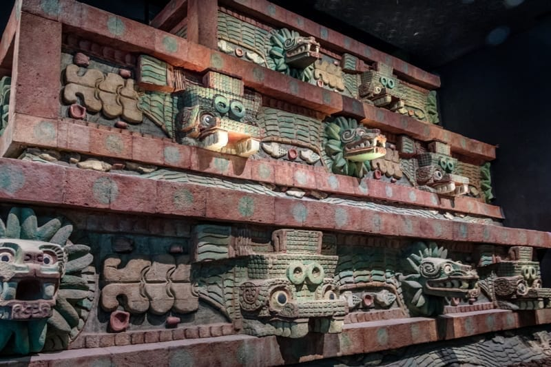 Teotihuacan Temple at National Museum of Anthropology