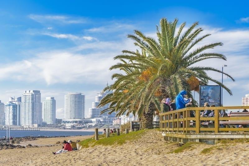 Punta del Este Beach in Uruguay