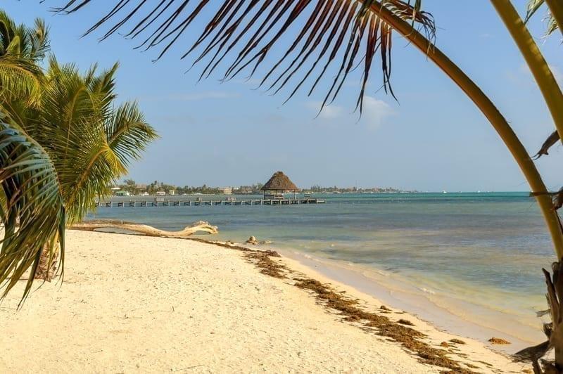 Beautiful beach scene in Ambergris Caye, Belize