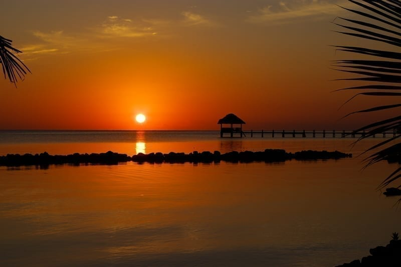 Sunset in Belize.