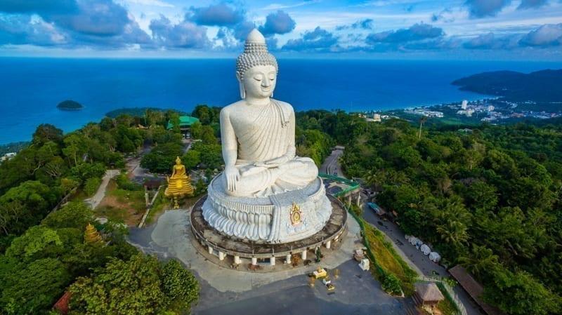 Phuket's big Buddha, one of the most revered landmarks on the island.