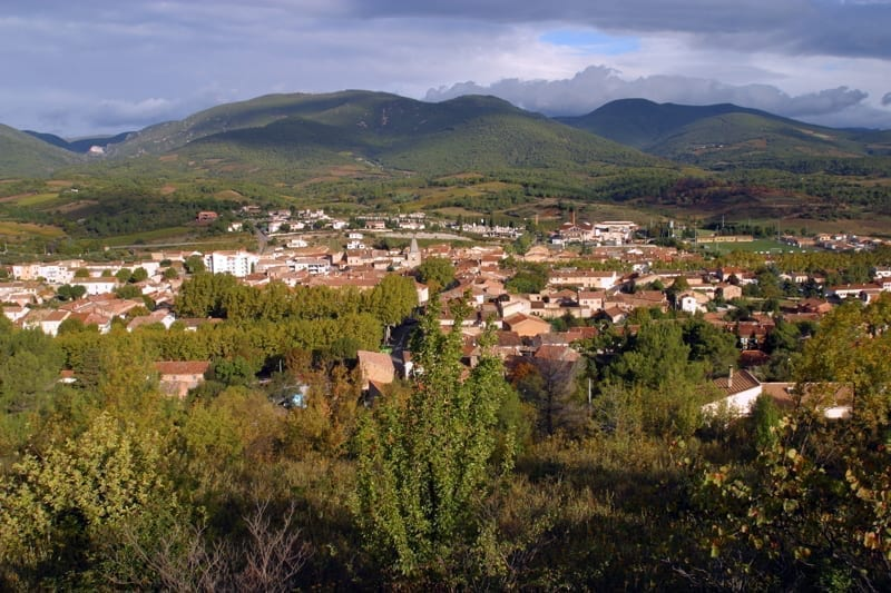 Gorgeous views of the mountain town of Saint Chinian in France.