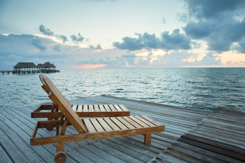 Ambergris Caye, Belize restful relaxing afternoon