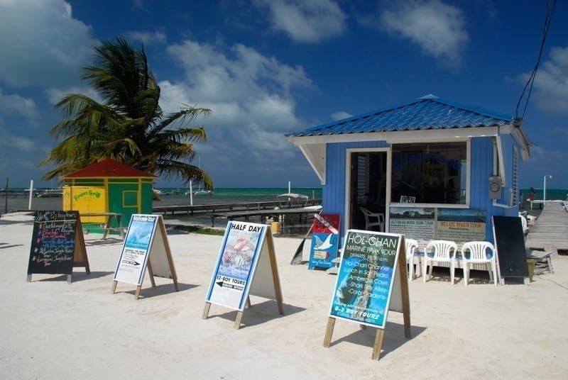 A business in Caulker Caye, Belize