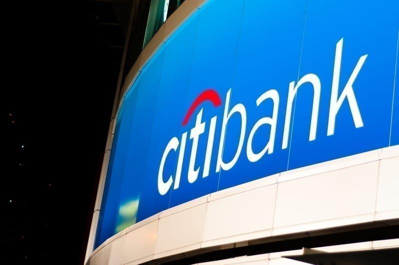 Photograph of the Citibank logo