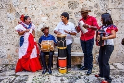 Traditional music group, old city, Santo Domingo, Dominican Republic