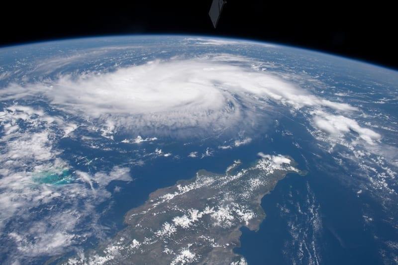 The cyclonic clouds of Hurricane Dorian