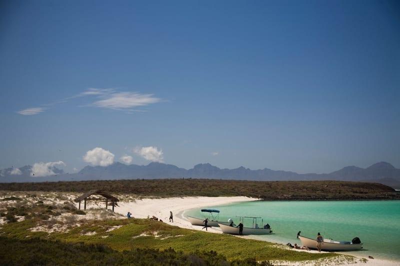 White sand beach near Loreto, Mexico