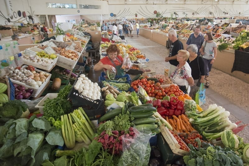 A local market in Tavira, Portugal