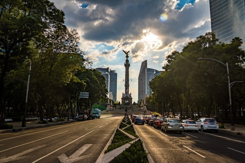 A road in Mexico City, Mexico