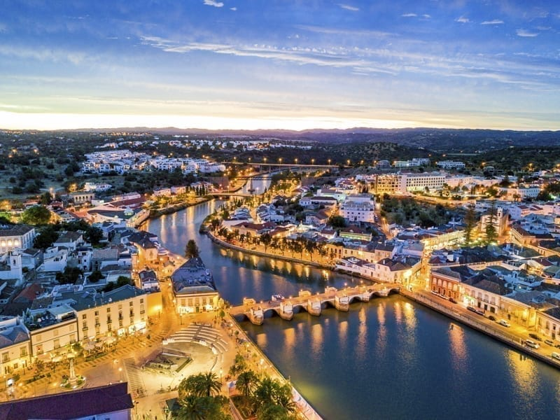 Tavira, Portugal early in the morning