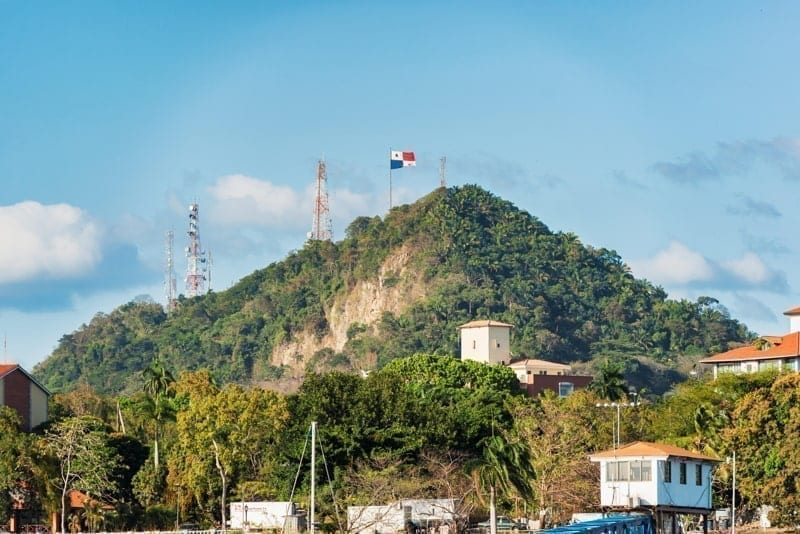 View at the Ancon Hill, a 654 foot hill that overlooks Panama City, Panama