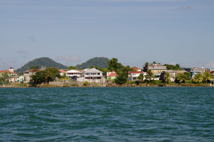 Waterfront view of the port city of Punta Gorda, Belize
