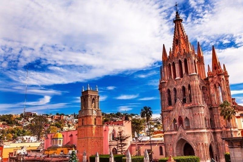 Parroquia Archangel church Town Square Rafael Church San Miguel de Allende, Mexico