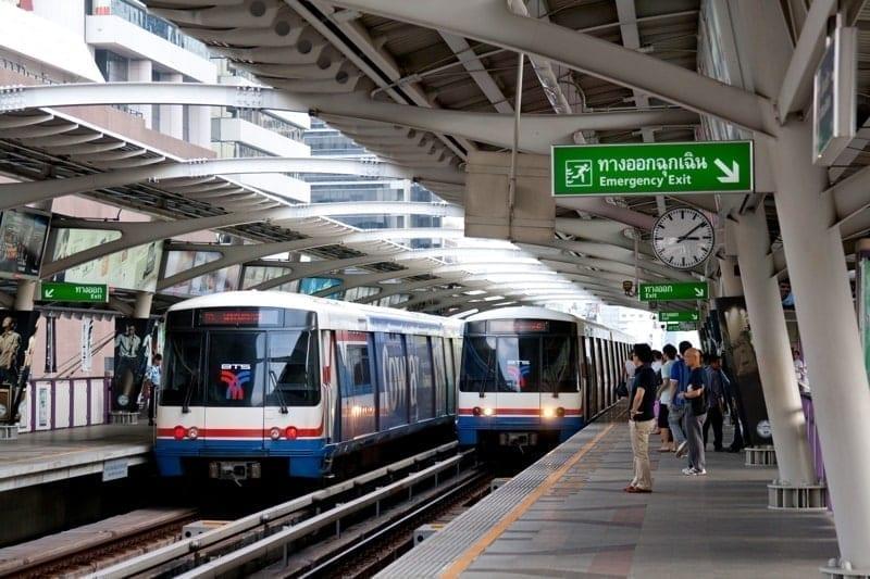 Bangkok Skytrain. Chong Nonsi station, Thailand
