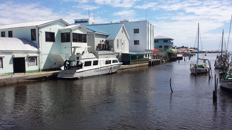 Water taxi at Belize City, Belize