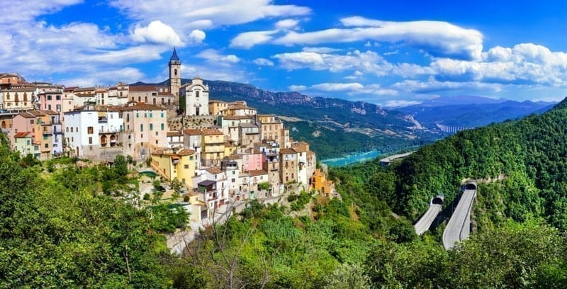 Pictorial Colledimezzo village, Abruzzo,Italy.
